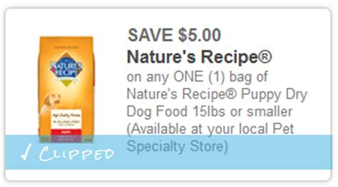nature s recipe puppy food nature s recipe puppy food coupon
