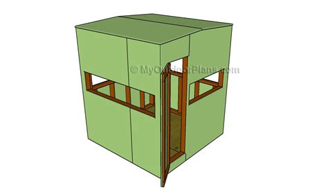 Free Deer Blinds Plans duck blind plans myoutdoorplans free woodworking plans and projects diy shed wooden
