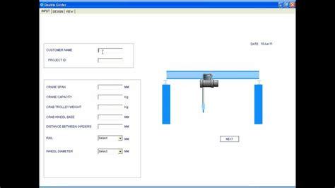 design brief crane solidworks automation crane double girder youtube