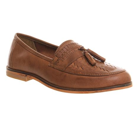 mens loafers with tassels office bank tassel loafers in brown for lyst