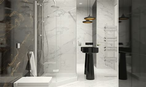 Black And White Marble Bathrooms by Black And White Marble Bathroom Interior Design Ideas