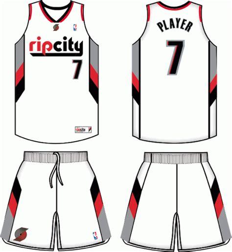 desain baju jersey basket portland trail blazers alternate uniform 2010 present