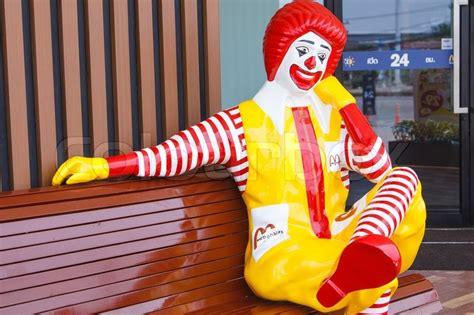 ronald mcdonald bench bangkok thailand april 10 ronald mcdonald character