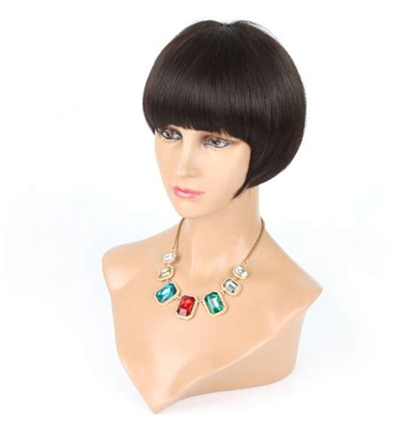 bob hair toppers classic short brenettes bob lace front human hair wigs