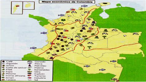 Actividades Economicas De Colombia Mapa El Mapa De Las Regiones Economicas De Colombia