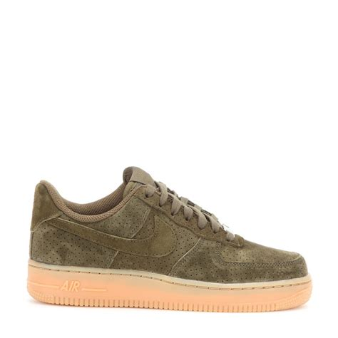 nike air 1 suede sneakers in green lyst