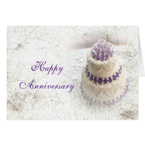 Zazzle Wedding Anniversary Cards by Wedding Anniversary Cake Greeting Cards Zazzle