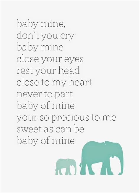 printable lullaby lyrics baby mine dumbo disney lullaby free printable it s about