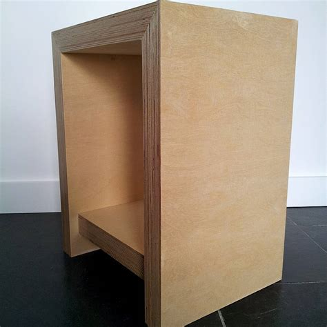 plywood bedside table chunky plywood bedside table by soap designs