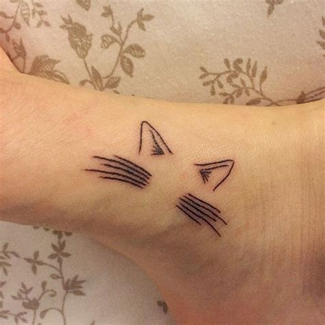 cat whiskers tattoo 1000 ideas about small cat tattoos on cat