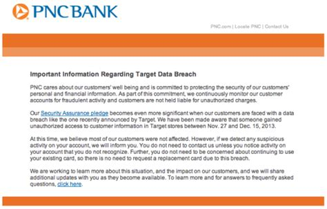 Target Credit Card Breach Letter Target Data Breach Can Be Opportunity For Banks