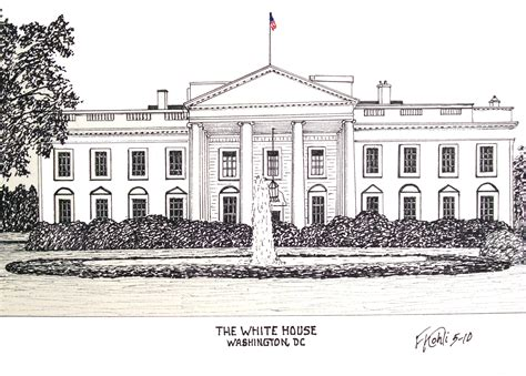 white house drawing the white house pen and ink drawing by frederic kohli of the white house in