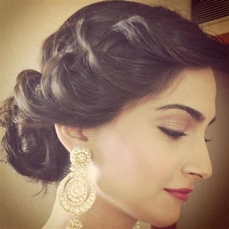 elegant indian hairstyles sonam kapoor via facebook image 784656 by speen on