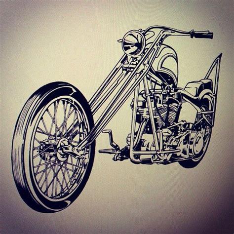 Motorrad Chopper Zeichnung by Motorcycles Illustration Lifestyle Chopper