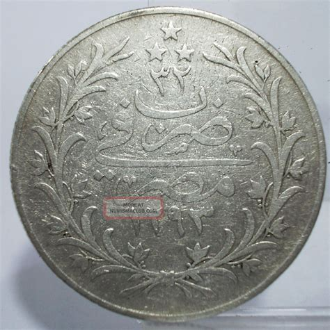 ottoman silver coins egypt ottoman 1907 ah1327 32 20 qirsh large silver coin circulated