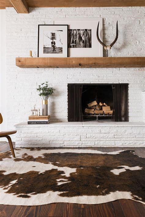 Cowhide Rug Decor - this amazing brown white faux cowhide rug home