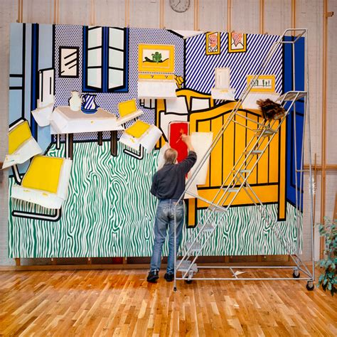 roy lichtenstein bedroom looking at lichtenstein looking at van gogh artsy