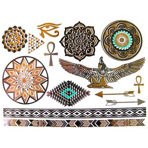 tattoo mandala ephemere tatouage 233 ph 233 m 232 re et temporaire dor 233 et argent cl 233 opatre