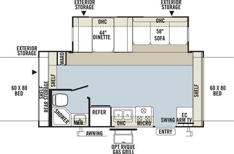 Rockwood Roo Floor Plans by Parris Rv