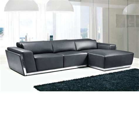 modern black leather sectional sofa dreamfurniture 8010c modern black bonded leather