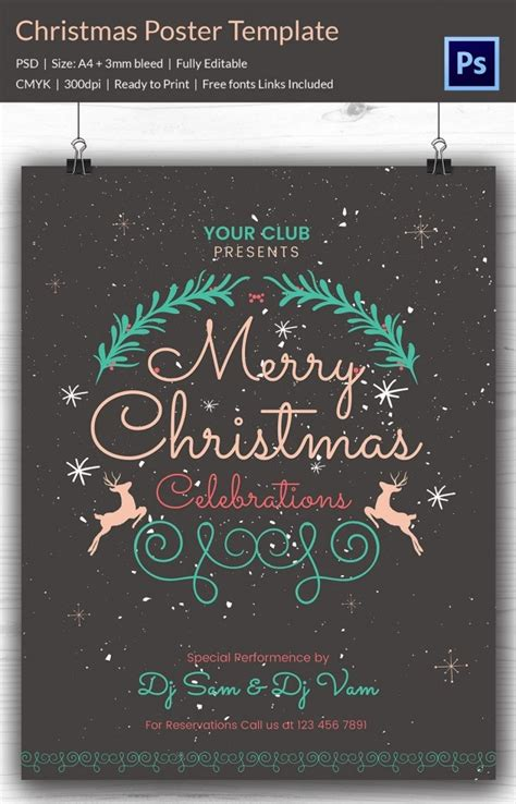 christmas posters psd format   premium templates