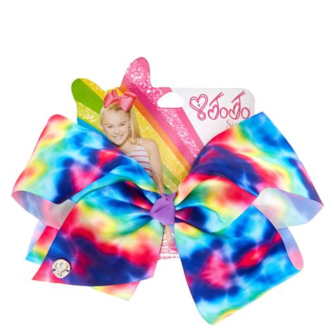 Jojo Siwa Bow By Timorashop jojo siwa large rainbow tie dye signature hair bow