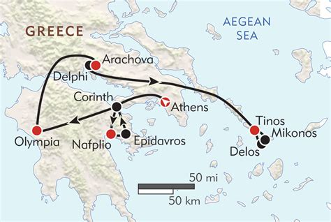 greece private journey itinerary map wilderness travel