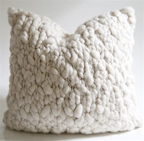 Wool Throw Pillows by Clouds Chunky Wool Throw Pillow Homelosophy