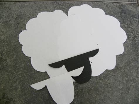 cardboard sheep template march craft the kid s review