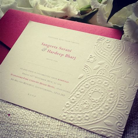 Embossed Wedding Invitations by Paisley Embossed Wedding Invitation Invites