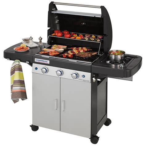 a gas cingaz 3 series cast iron exs gas bbq