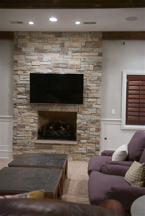 Veneer Fireplace by Stack Veneer Fireplace Traditional Living