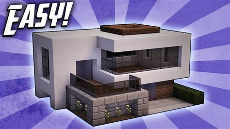 how to build a modern house in minecraft pe minecraft how to build a small modern house tutorial 16