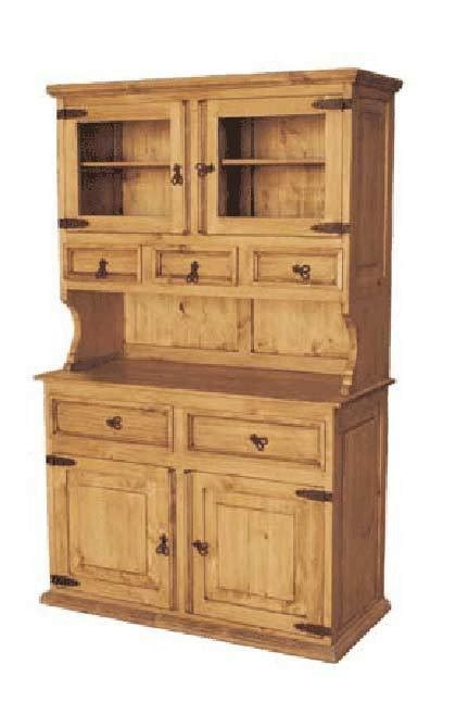 Wooden Hutch Wood Buffet And Hutch Rustic China Cabinet And Pine Wood