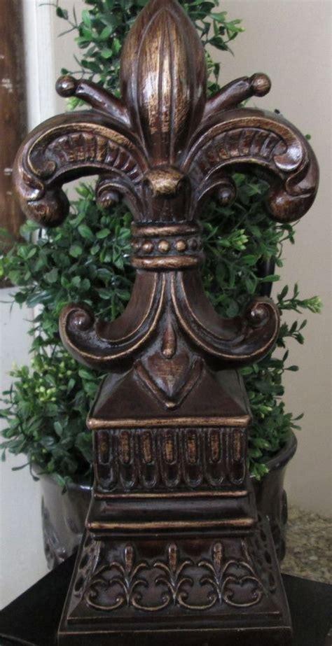 Fleur De Lis Home Decor by Fleur De Lis Tuscan Bronze Finish Finial Statue New
