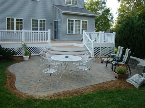 Paver Patio Next Years Project For The Home Pinterest Backyard Decks And Patios Ideas