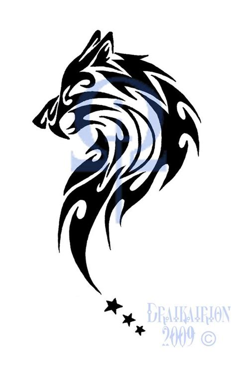 tribal wolf tattoos for men tribal wolf tribal sabertooth wolf by
