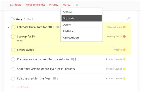 todoist templates todoist project templates 28 images a whole new way to