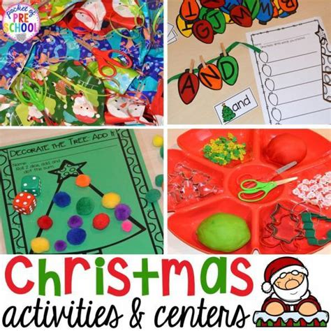 christmas activity center ideas for preschool and