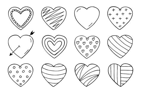 qbrush pattern color pictures of hand drawn hearts impremedia net