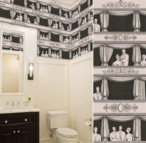 Trompe L Oeil Wallpaper Quel Papier Peint Pour Des Toilettes Blog Au Fil Des