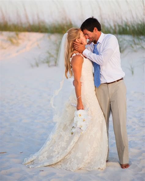 vibrant wedding   beach  florida martha stewart