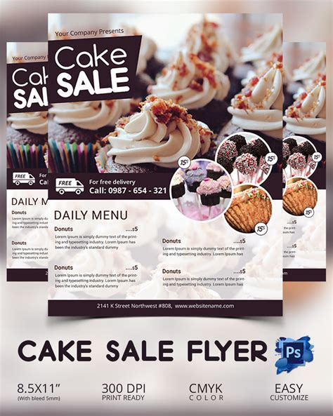 cake flyer template free 135 psd flyer templates free psd eps ai indesign