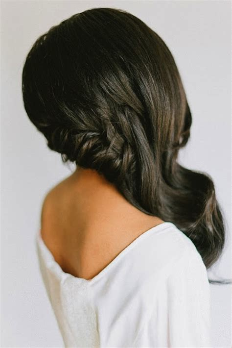 Wedding Hairstyles Side Waves by Side Swept Waves Curls Wedding Hairstyle 0 Bridal