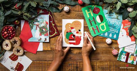 write   christmas card american
