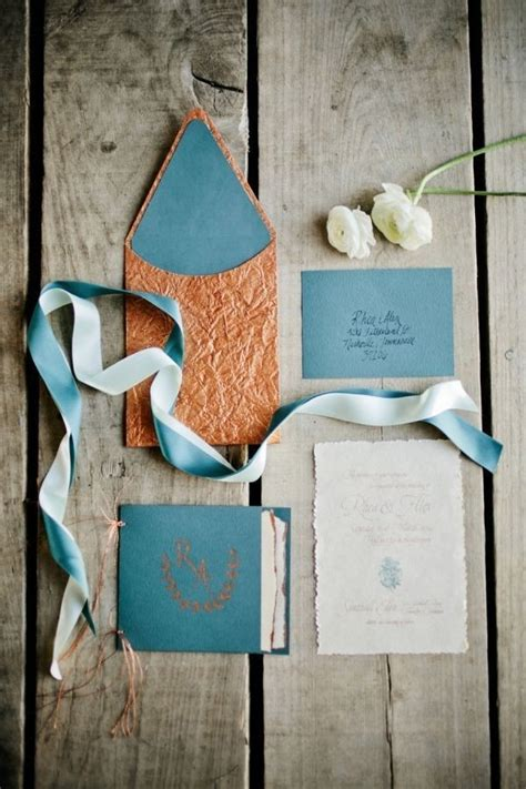 wedding invitations teal and copper 50 amazing vintage bronze copper wedding color ideas