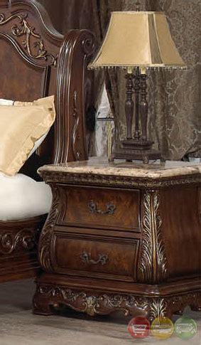 granite top bedroom set venice traditional cherry sleigh bedroom set with stone