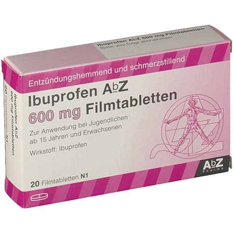Obat Ibuprofen 600 Mg ibuprofen abz 600 mg filmtabletten shop apotheke