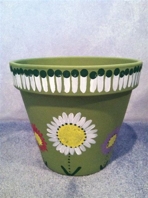 30 Inch Flower Pot Painted 12 Inch Flower Pot