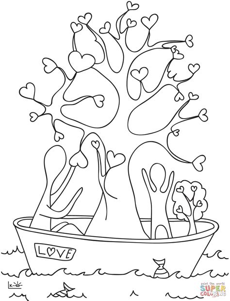 heart tree coloring page a tree with hearts coloring page free printable coloring